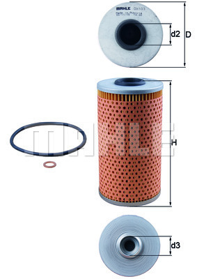 Filtre a huile KNECHT OX 103D (X1)