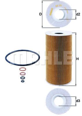 Filtre a huile KNECHT OX 126D (X1)