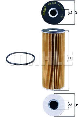 Filtre a huile KNECHT OX 133D (X1)