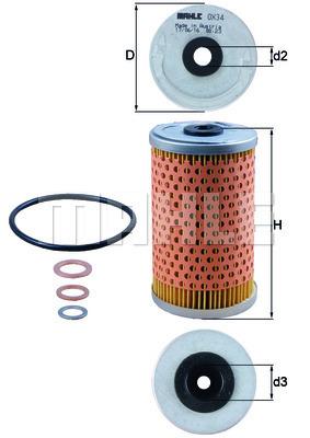 Filtre a huile KNECHT OX 34D (X1)