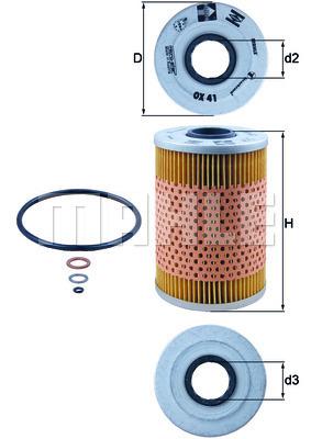 Filtre a huile KNECHT OX 41D (X1)