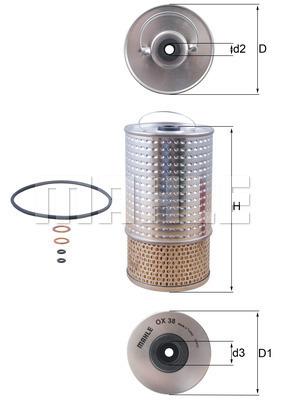 Filtre a huile KNECHT OX 38D (X1)