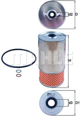 Filtre a huile KNECHT OX 78D (X1)