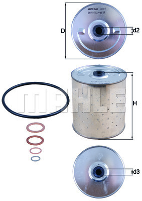 Filtre a huile KNECHT OX 85D (X1)
