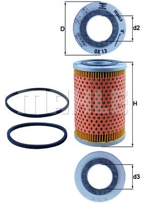 Filtre a huile KNECHT OX 13D (X1)