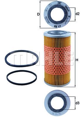 Filtration KNECHT OX 17D (X1)