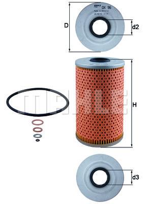 Filtre a huile KNECHT OX 96D (X1)