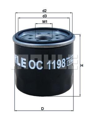 Filtre a huile KNECHT OC 1198 (X1)