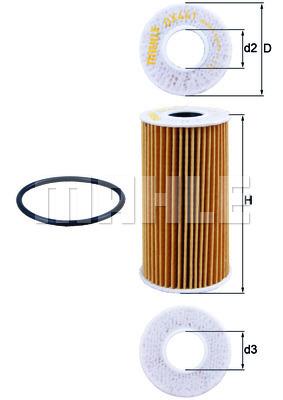 Filtre a huile KNECHT OX 441D (X1)