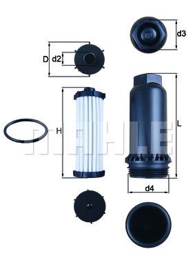 Filtre a huile de boite de vitesse KNECHT HX 151KIT (X1)