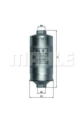 Filtre a carburant KNECHT KL 5 (X1)