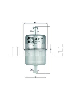 Filtre a carburant KNECHT KL 11 OF (X1)