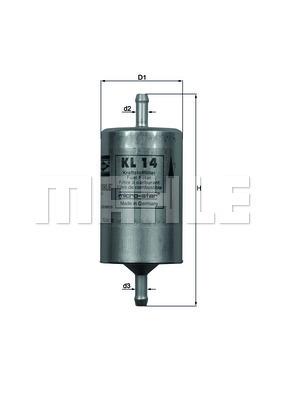 Filtre a carburant KNECHT KL 14 (X1)