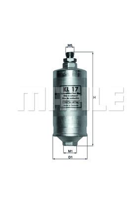 Filtre a carburant KNECHT KL 17 (X1)