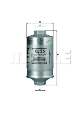 Filtre a carburant KNECHT KL 25 (X1)