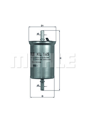Filtre a carburant KNECHT KL 165 (X1)