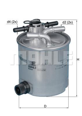 Filtre a carburant KNECHT KL 404/16 (X1)