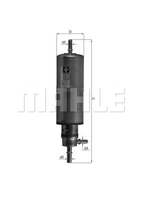 Filtre a carburant KNECHT KL 437 (X1)
