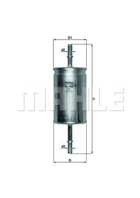 Filtre a carburant KNECHT KL 559 (X1)