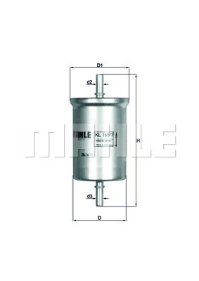Filtre a carburant KNECHT KL 165/1 (X1)