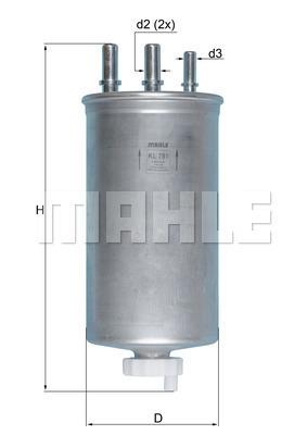 Filtre a carburant KNECHT KL 781 (X1)