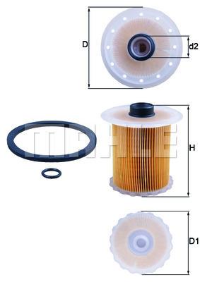 Filtre a carburant KNECHT KX 81D (X1)