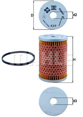 Filtre a carburant KNECHT KX 9D (X1)