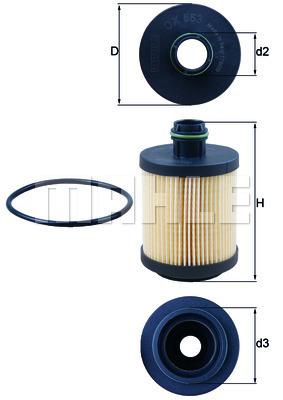 Filtre a huile KNECHT OX 553D (X1)