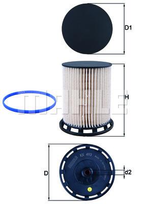 Filtre a carburant KNECHT KX 493D (X1)