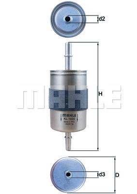 Filtre a carburant KNECHT KL 1055 (X1)