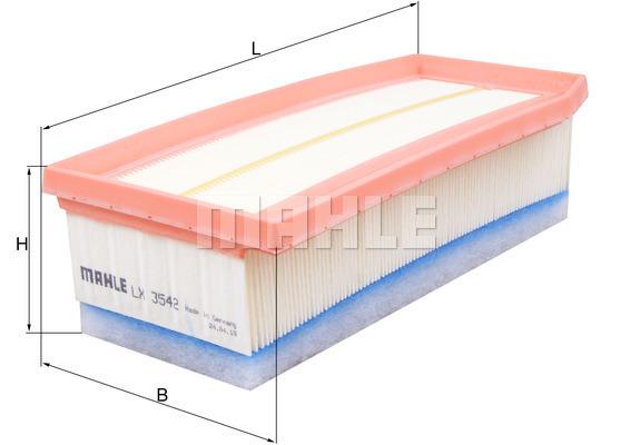 Filtre a air KNECHT LX 3542 (X1)