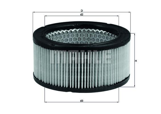 Filtre a air KNECHT LX 213 (X1)