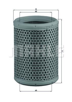 Filtre a air KNECHT LX 130 (X1)