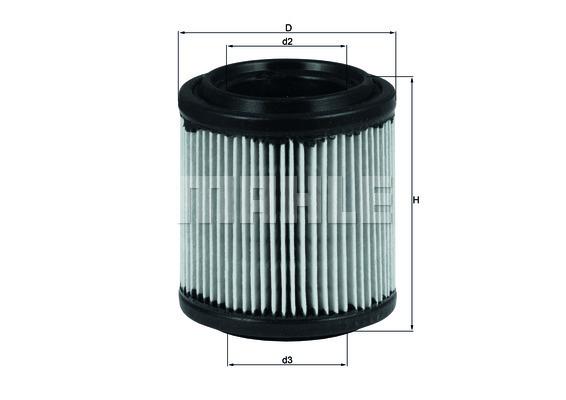 Filtre a air KNECHT LX 279 (X1)