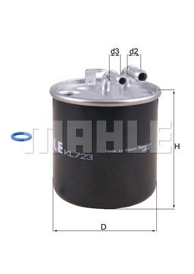 Filtre a carburant KNECHT KL 723D (X1)
