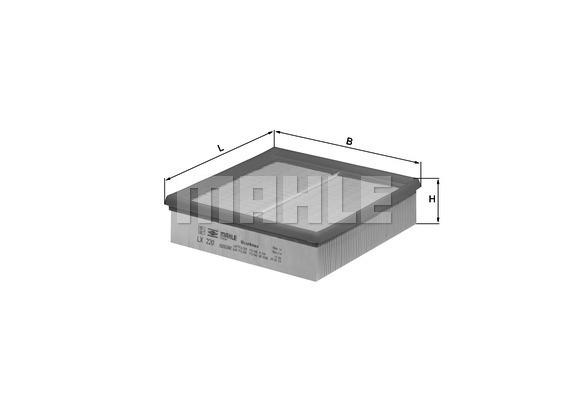 Filtre a air KNECHT LX 220 (X1)