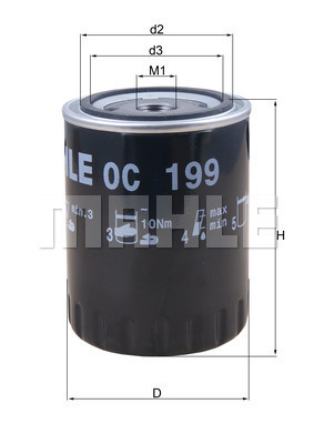 Filtre a huile KNECHT OC 199 (X1)