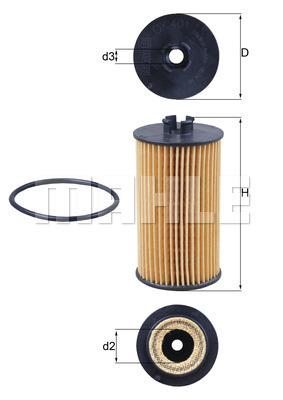 Filtre a huile KNECHT OX 401D (X1)