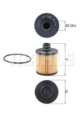 Filtre a huile KNECHT OX 779D (X1)