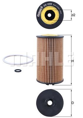 Filtre a huile KNECHT OX 1058D (X1)