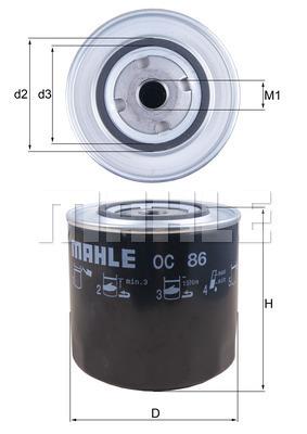 Filtre a huile KNECHT OC 86 (X1)
