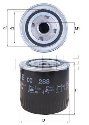 Filtre a huile KNECHT OC 288 (X1)