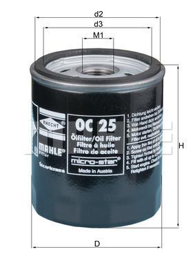 Filtre a huile KNECHT OC 25 (X1)