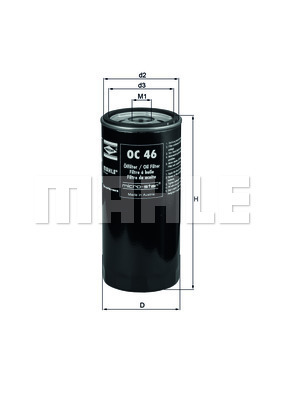 Filtre a huile KNECHT OC 46 (X1)
