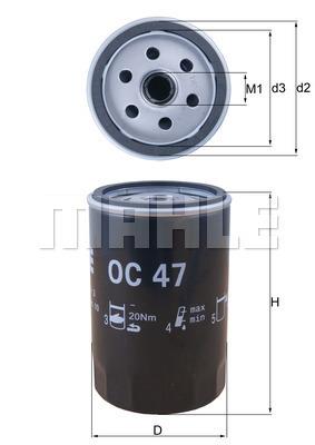 Filtre a huile KNECHT OC 47 (X1)