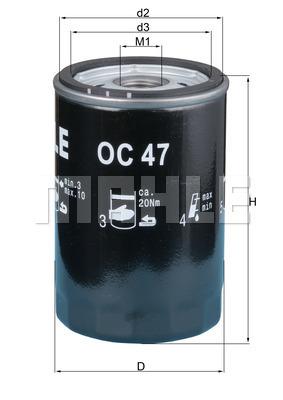 Filtre a huile KNECHT OC 47 OF (X1)
