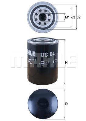 Filtre a huile KNECHT OC 54 (X1)