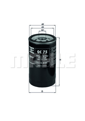 Filtre a huile KNECHT OC 75 (X1)