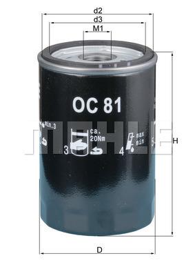 Filtre a huile KNECHT OC 81 (X1)