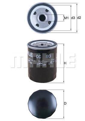 Filtre a huile KNECHT OC 93 (X1)